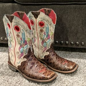 ARIAT Rodeobaby Live 2 Ride rocker cowgirl boots 7